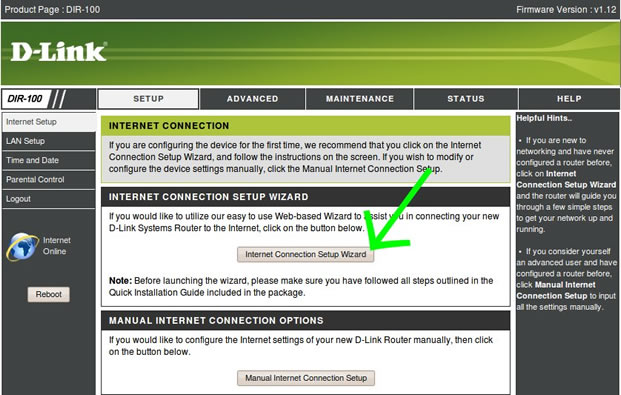 D-Link DIR 100 router VPN set up guide for View TV Abroad