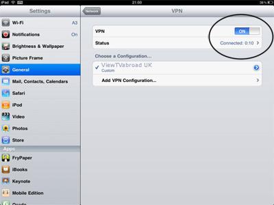 What's vpn on ipad